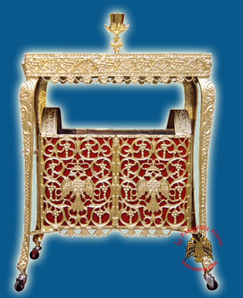 Ecclesiastical Rectangular Candelabrum Drawable for Sand 70x42x100cm