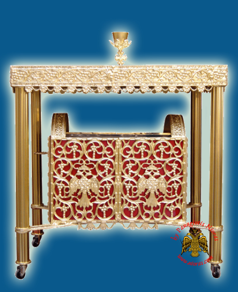 Ecclesiastical Rectangular Candelabrum Drawable for Sand 88x51x100cm
