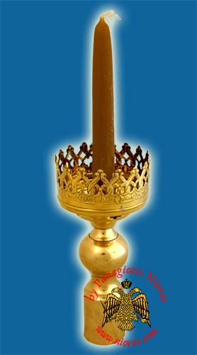 Processional Candlestick Gold Plated