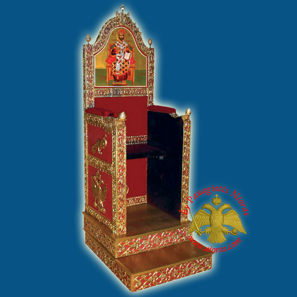 Orthodox Bishop Throne 80x100x220cm