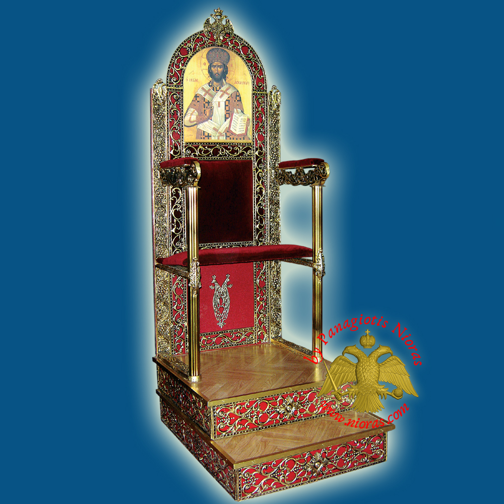 Orthodox Bishop Throne  75x100x190cm