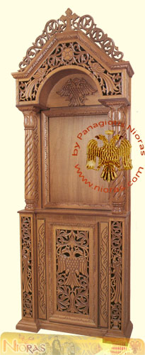 Hand carved Wooden Icon Stand C