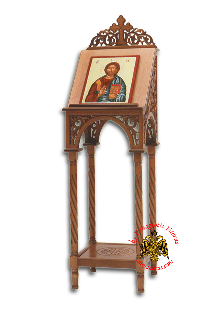 Hand carved Portable Icon Stand B Full Carved