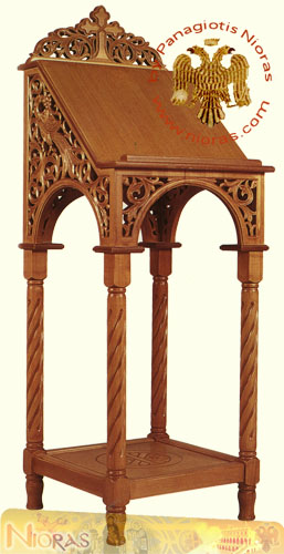 Hand carved Portable Icon Stand A Full Carved