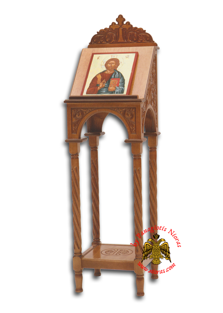 Hand Made Portable Icon Stand Β Carved on Wood