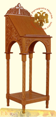 Hand Made Portable Icon Stand A Carved on Wood