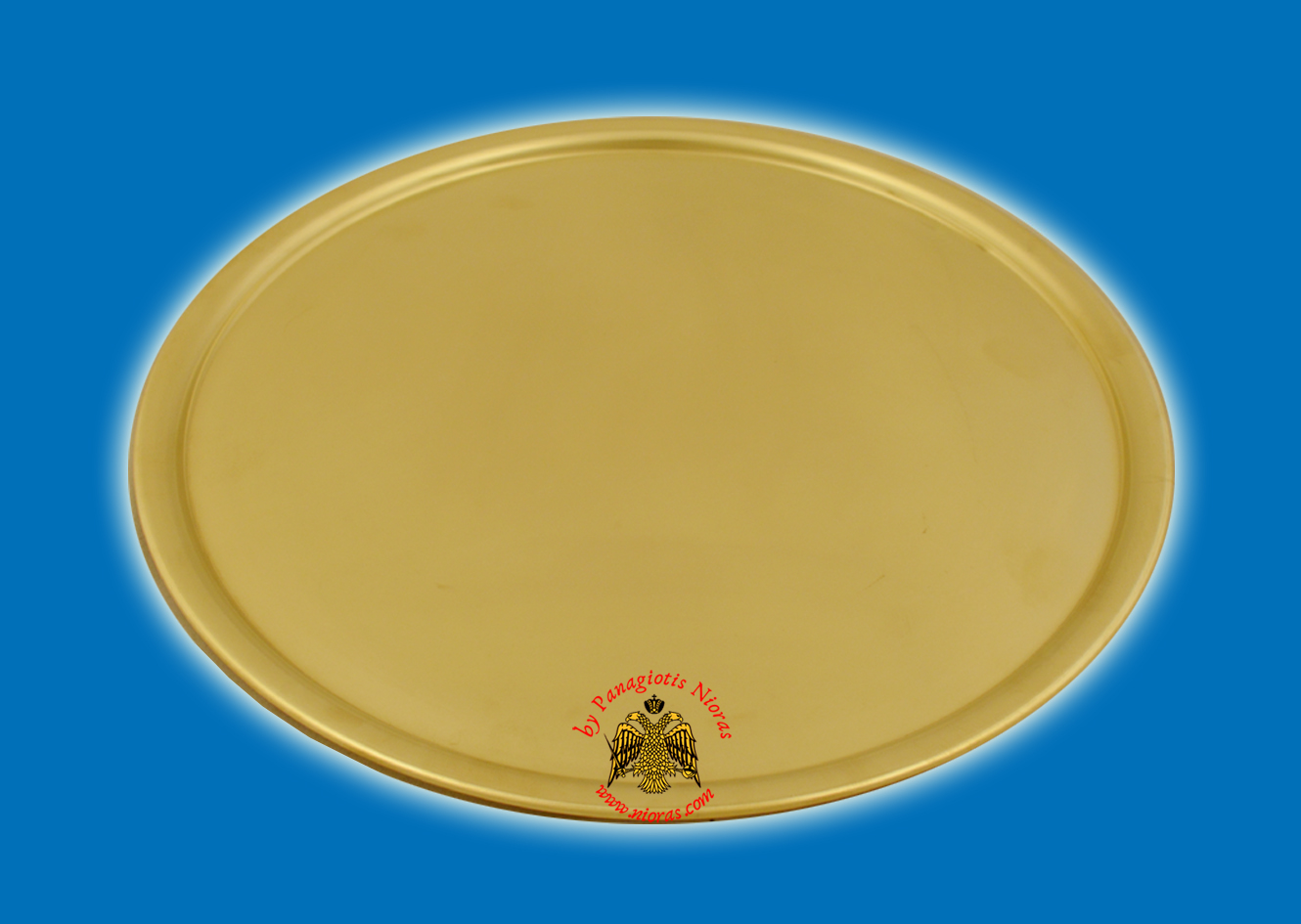 Brass Metal Disc Tray For CandleHolders 30cm