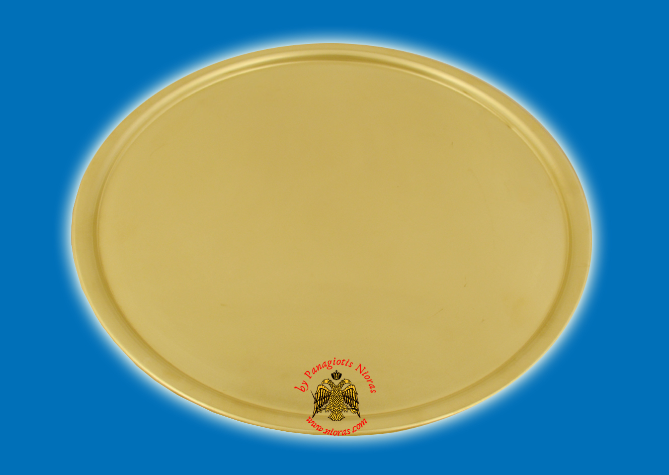 Brass Metal Disc Tray For CandleHolders 25cm