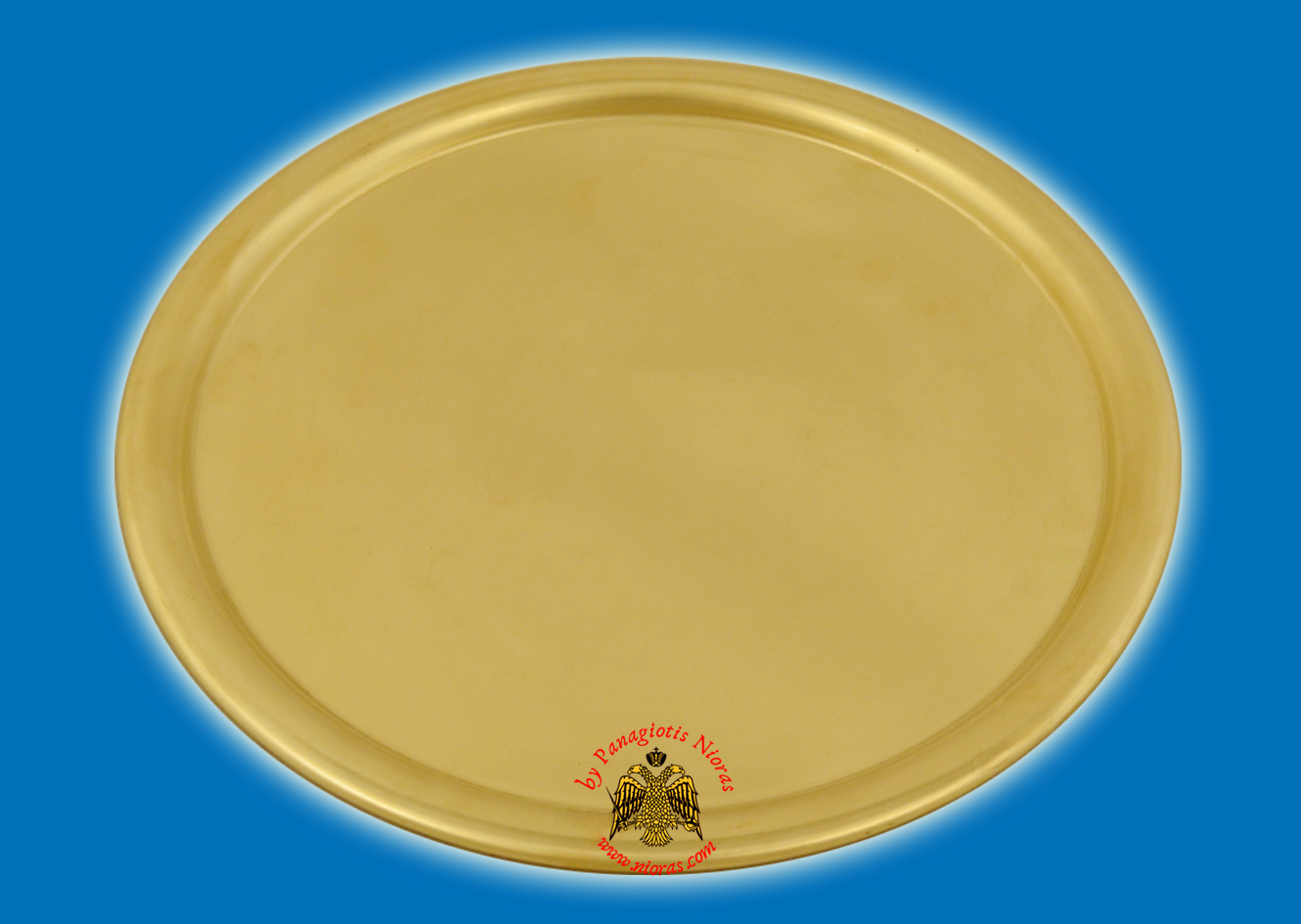 Brass Metal Disc Tray For CandleHolders 20cm