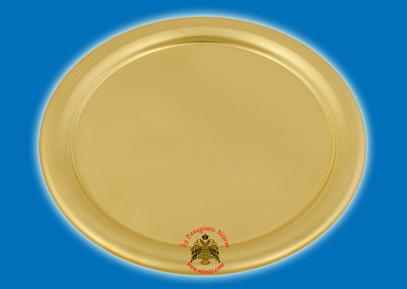 Brass Metal Disc Tray For CandleHolders 16cm