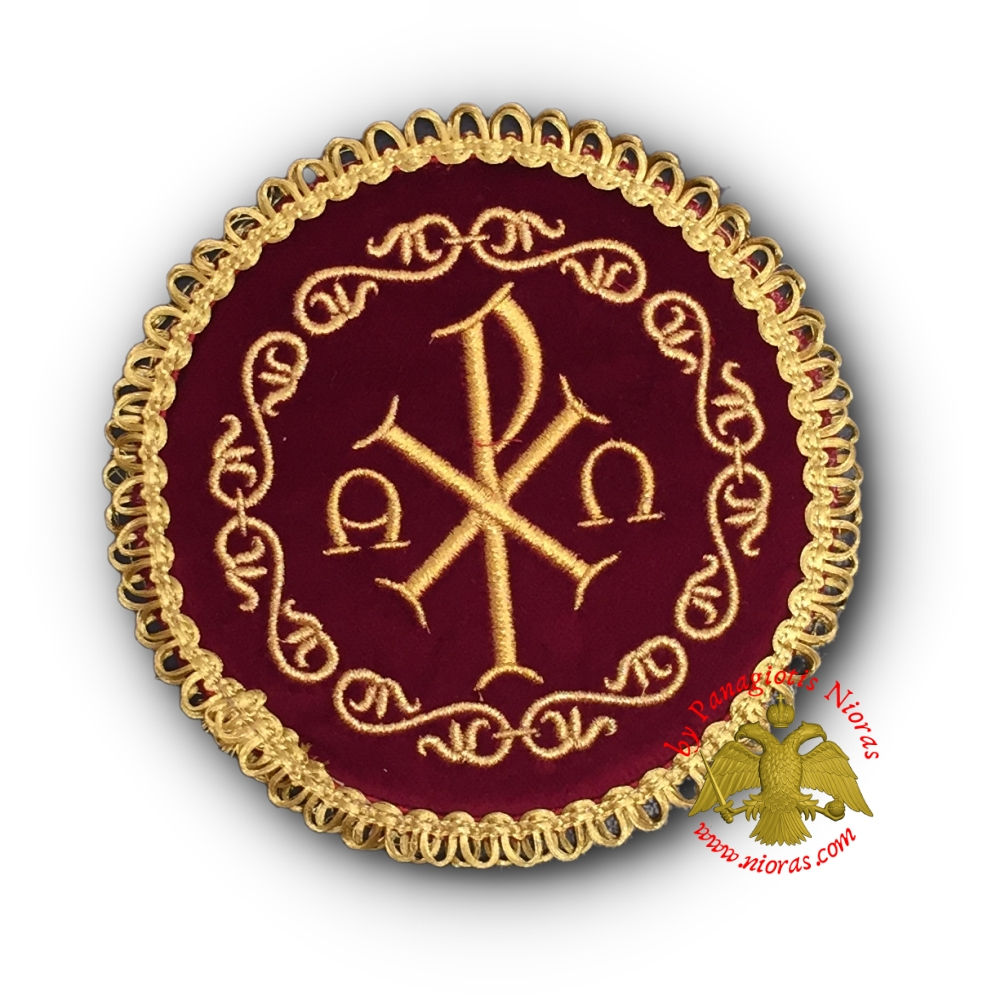 Holy Communion Burgundy Velvet Cover ARXO Golden Thread 13cm