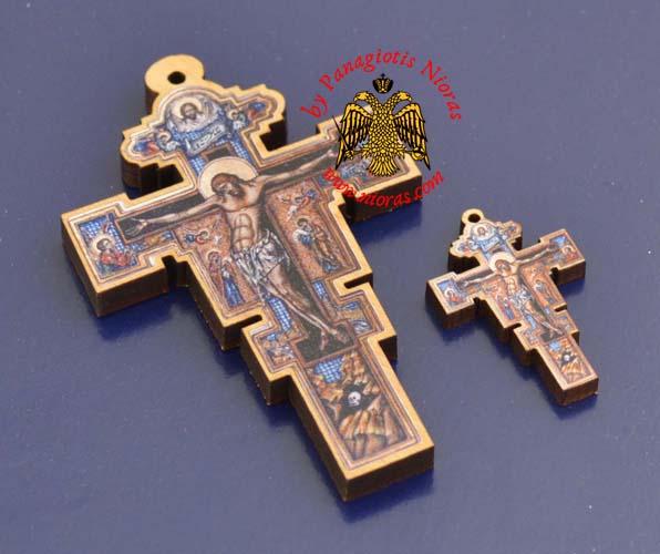 Wooden Cross Serbian Style Cross 8x5cm Wooden Neckwear