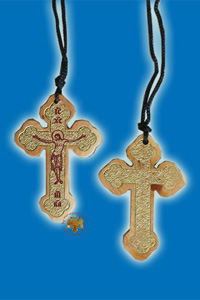 Wooden NeckWear Crosses