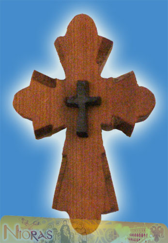 Orthodox Wooden NeckWear Cross With Neck Cord