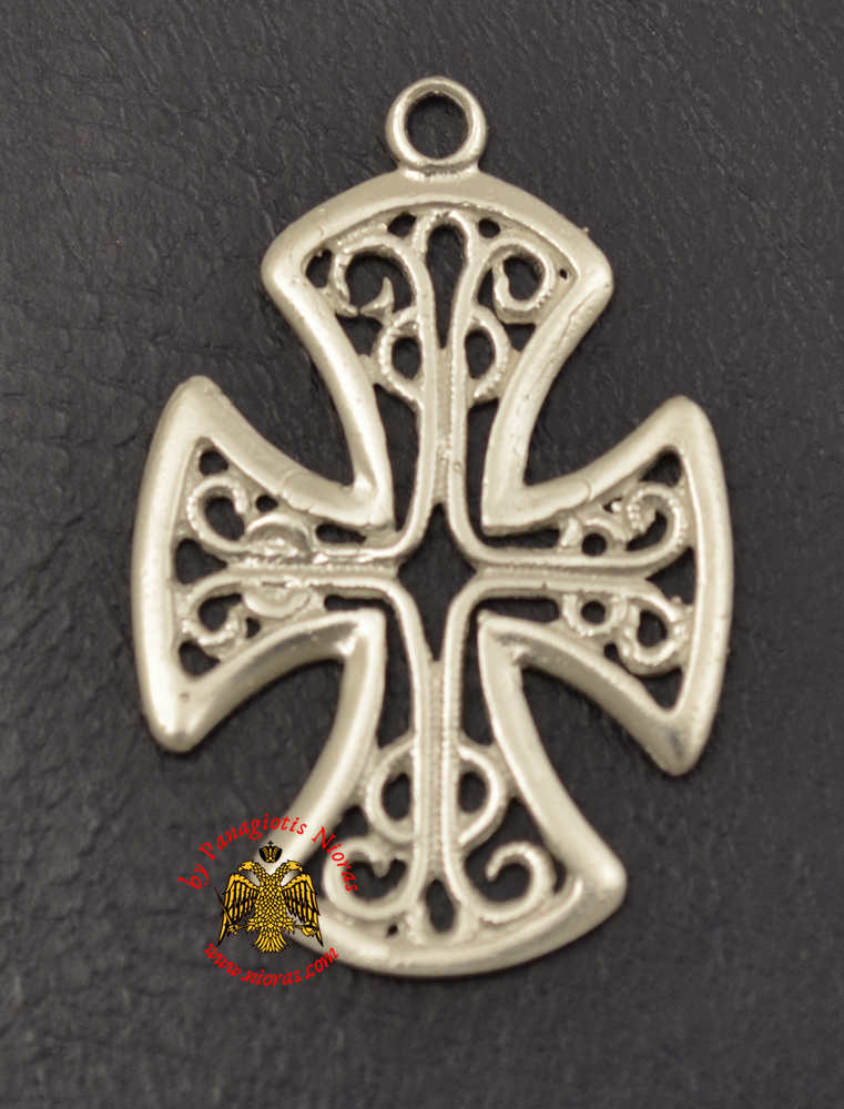 Neck Cross Silver 925 Simple Cross Feligree Desing