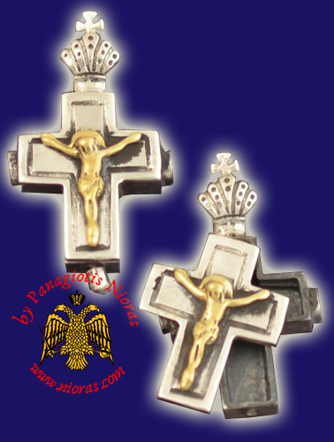 Neck Cross Silver 925 with Christ Cross_Fr84