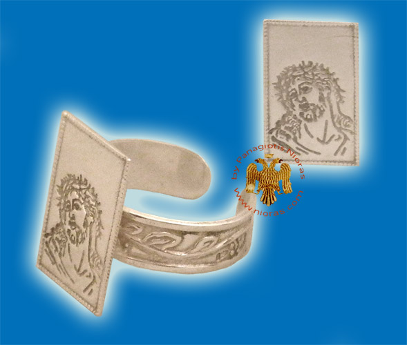 Christ Silver Ring Rectangular