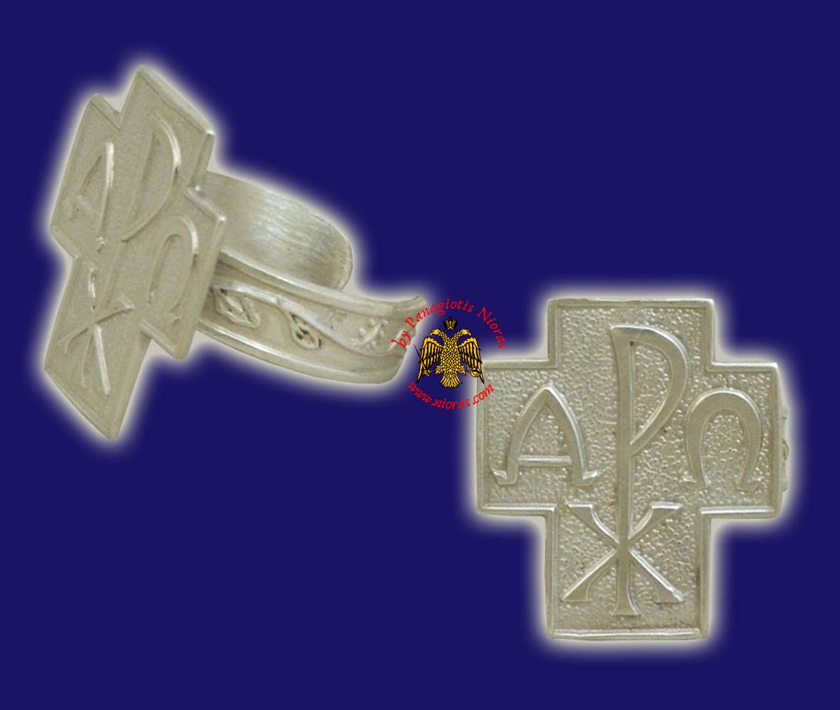 ARXO Orthodox Sterling Silver 925 Ring Cross Design