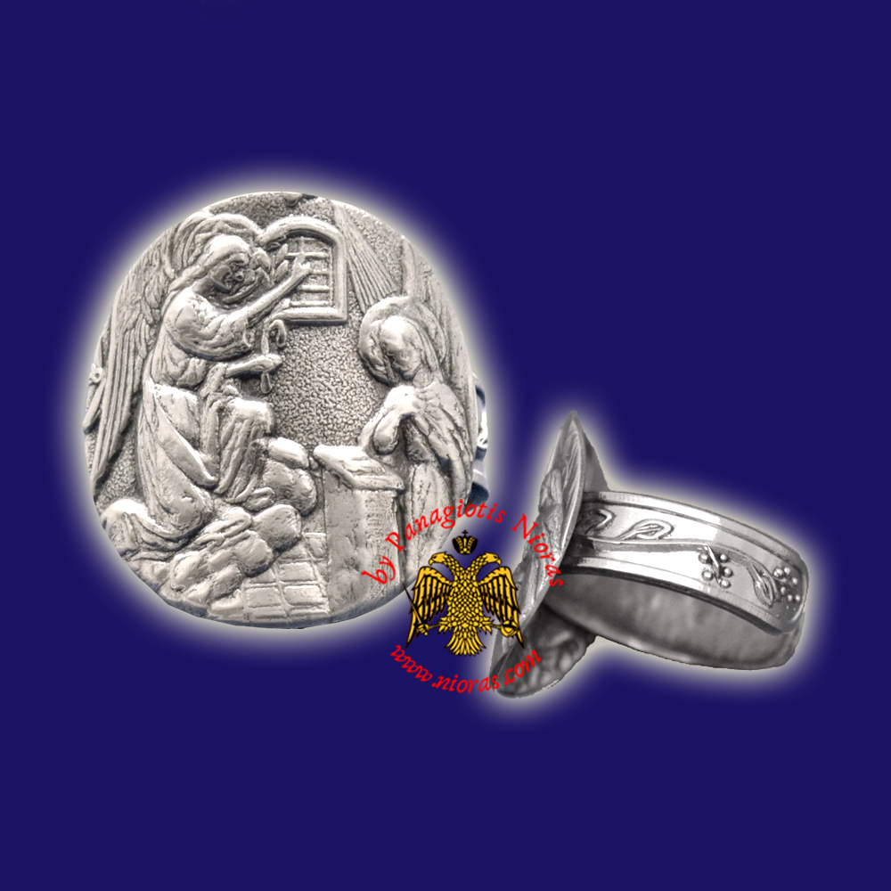 Orthodox Sterling Silver Ring Annunciation