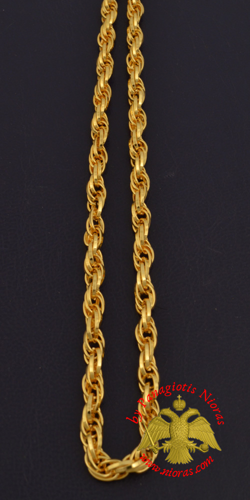 Metal Chain for Orthodox Engolpion or Pectoral Cross Gold Plated 120 cm C'