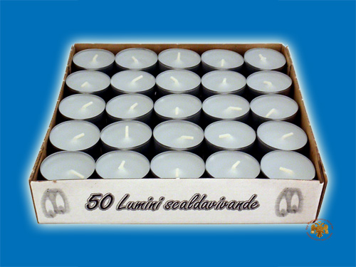 Paraffin Wax Candle for Cenotaph Tealights Set of 50 Pieces