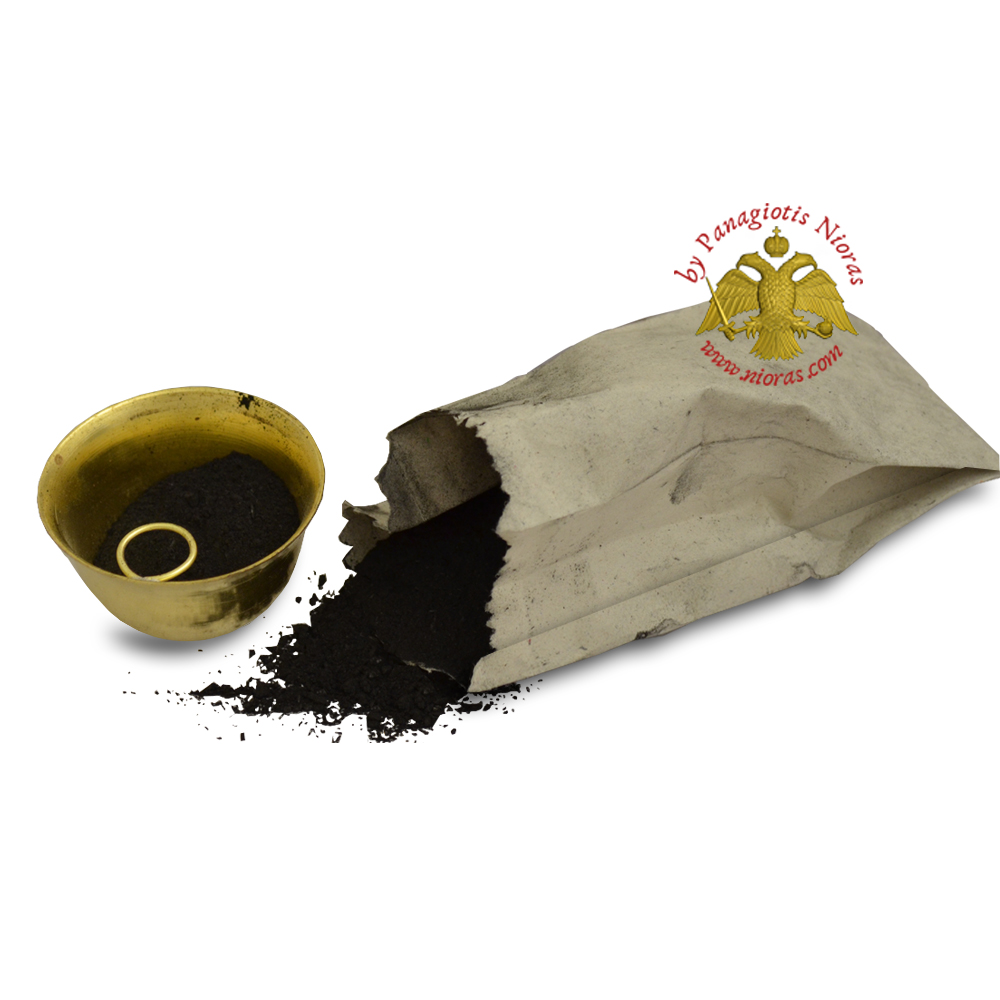 Hand Made Coal Powder from Greek Monks