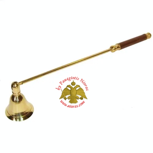Candle Snuffer Brass with Wooden Handle