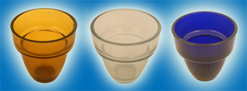 Replacement Oil Candle Glass Cup Design  M1 10cm
