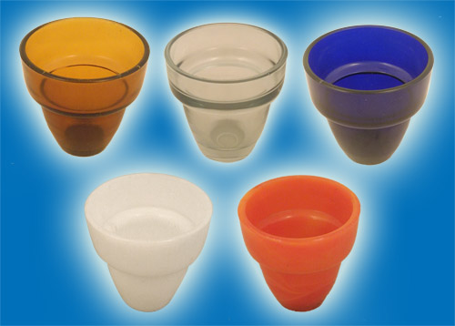 Replacement Oil Candle Glass Cup Design M2