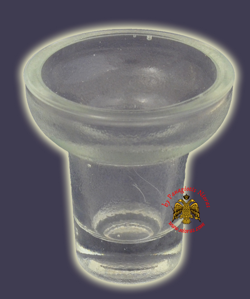 Replacement Oil Candle Glass Cup Design D