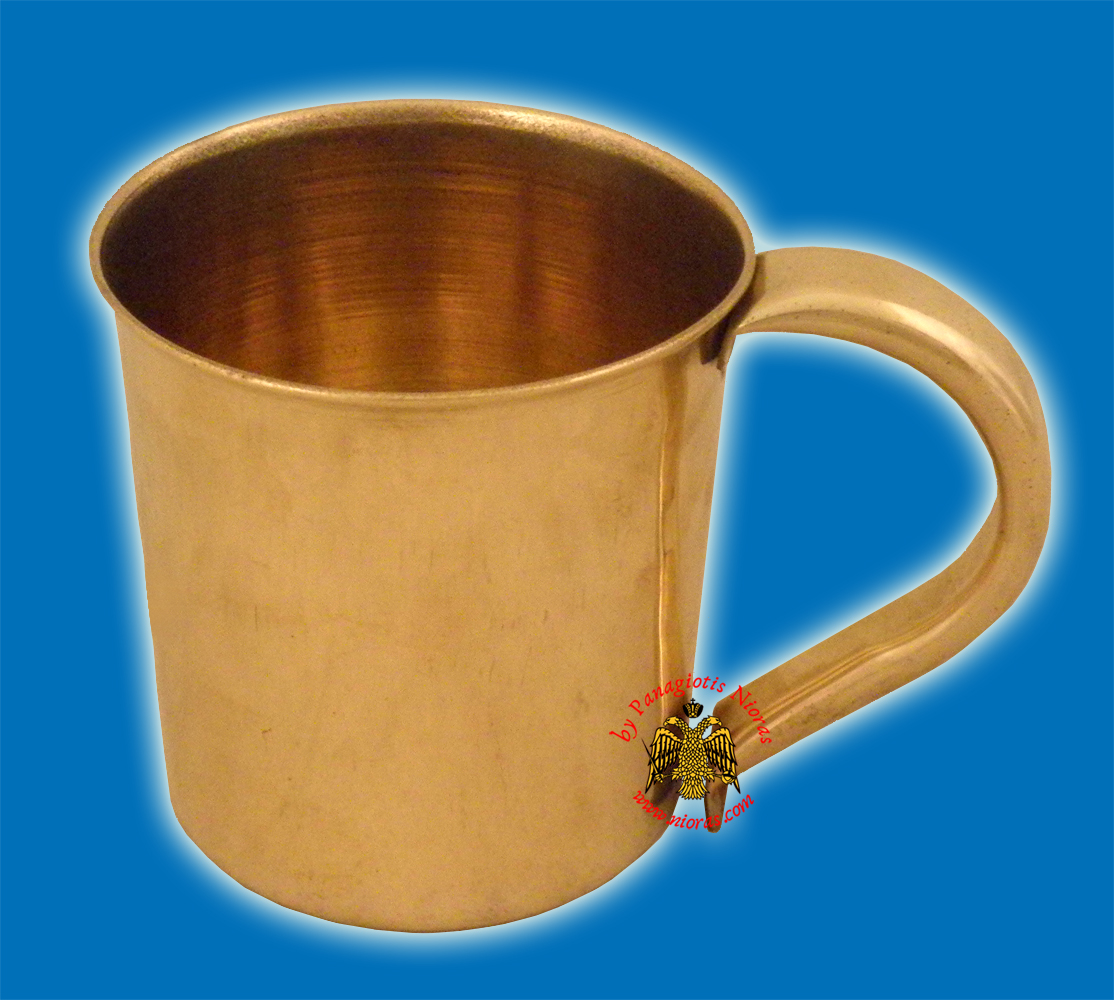 Metal Cup for Extinguishing Wax Candles Brass