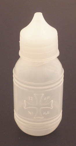 Holy Water or Holy Oil Bottle Plastic 15ml ICXC