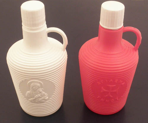 Holy Water Bottle Plastic h:11x5cm SET 10pcs