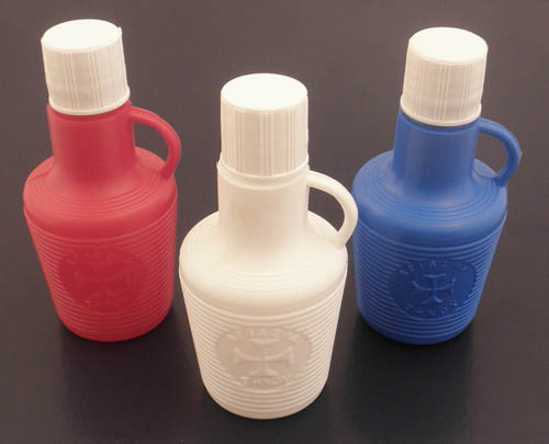 Holy Water Bottle Plastic h:9x4cm SET 10pcs