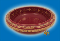 Bowl Unction Porcelain Burqundy
