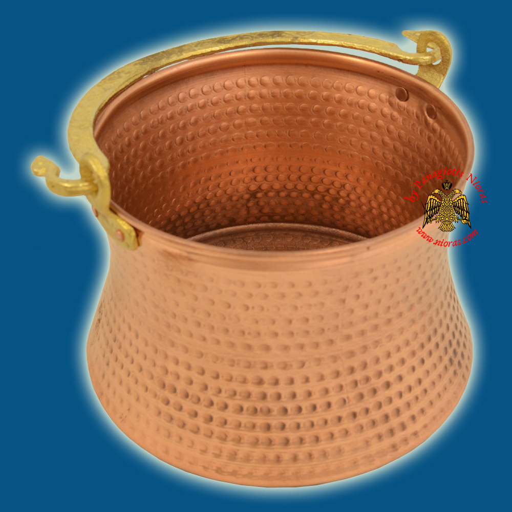 Metal Orthodox Holy Water Bowl for Theophany Day