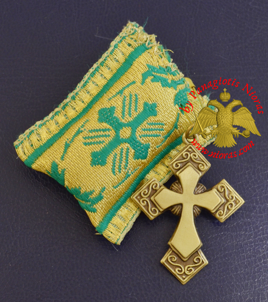 Amulet Orthodox Filakto - Pendant Rectangular with Metal Byzantine Cross