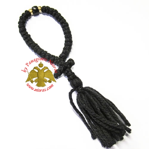 Orthodox Christian Prayer Rope 33 knots with Cross and Tessel