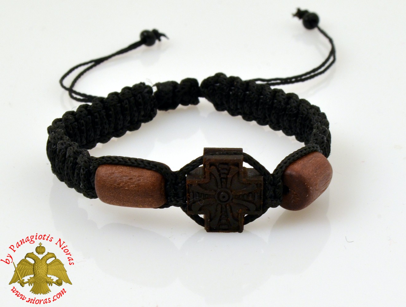 Hand Wrist Praying Rope with Wooden Carved Cross