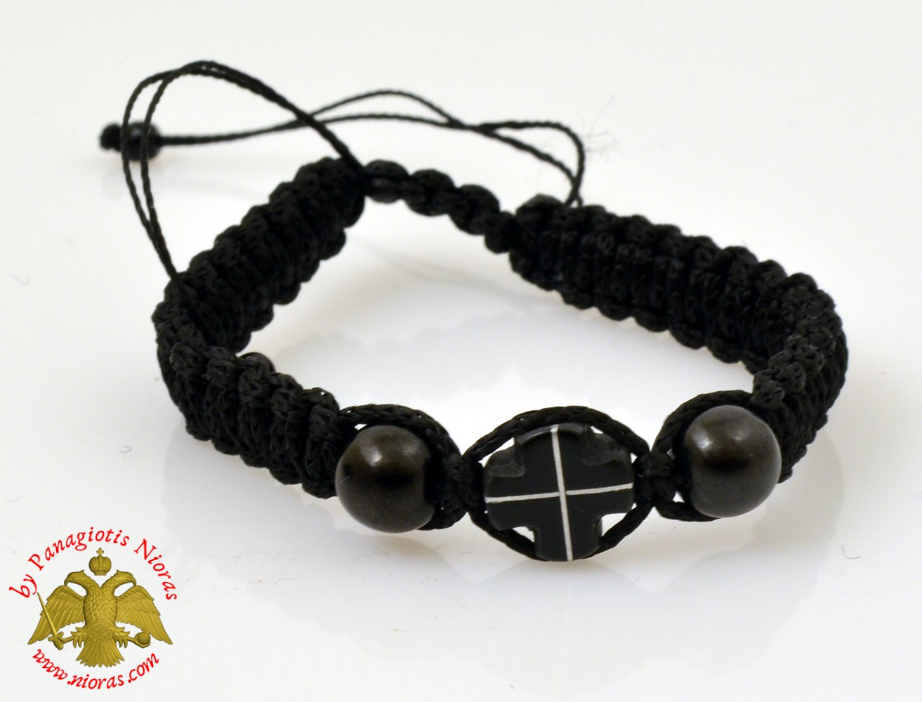 Hand Wrist Praying Rope with Wooden Black Cross