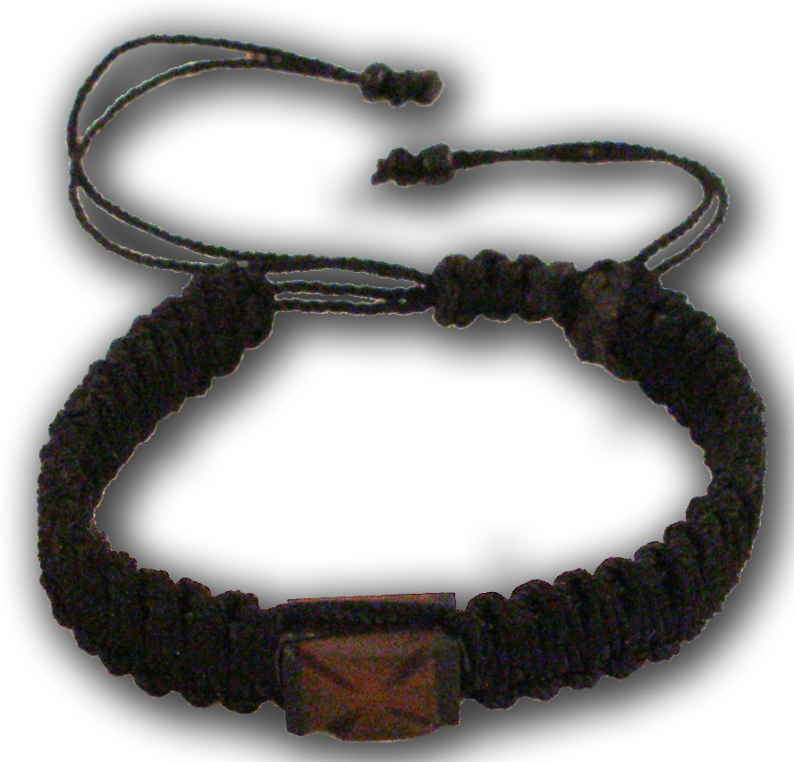 Hand Wrist Praying Rope with Wooden Cross C