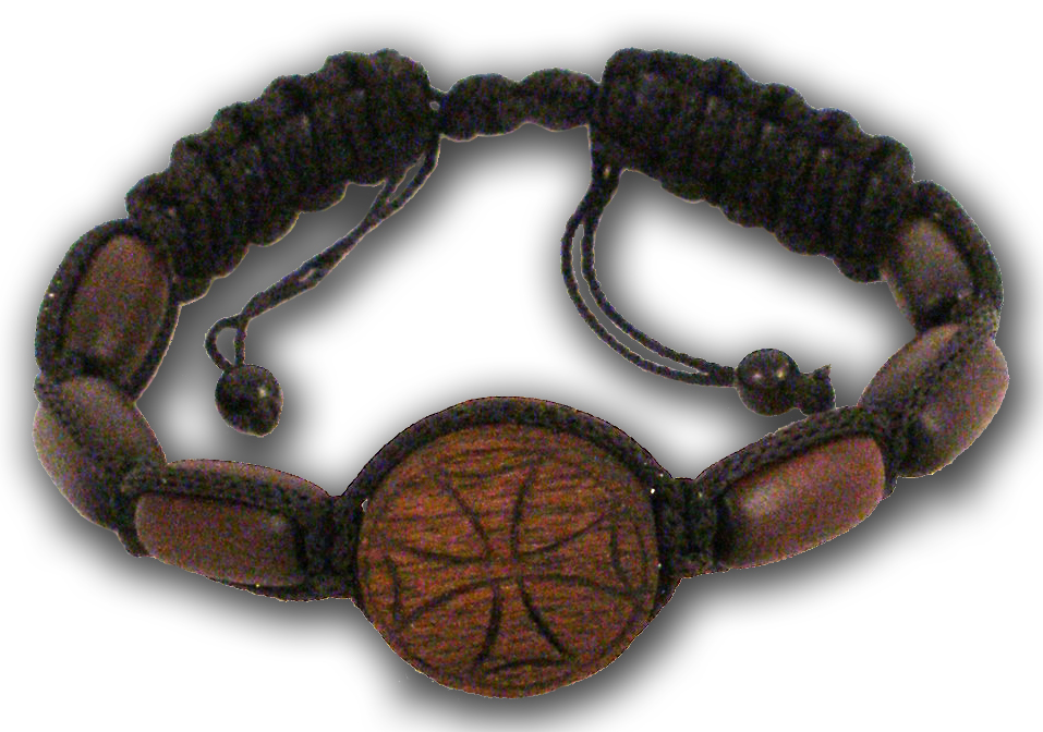 Hand Wrist Praying Rope with Wooden Cross D