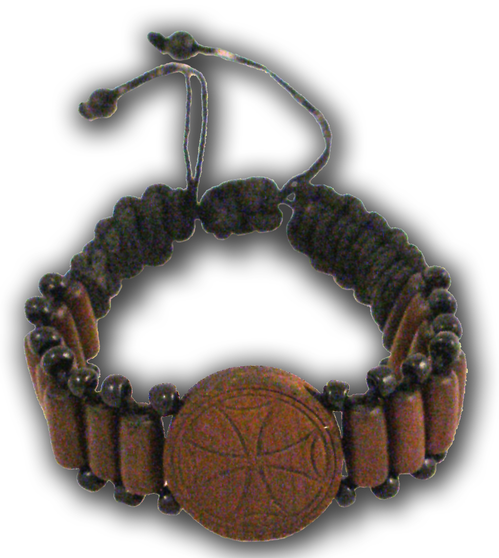 Hand Wrist Praying Rope with Wooden Cross E