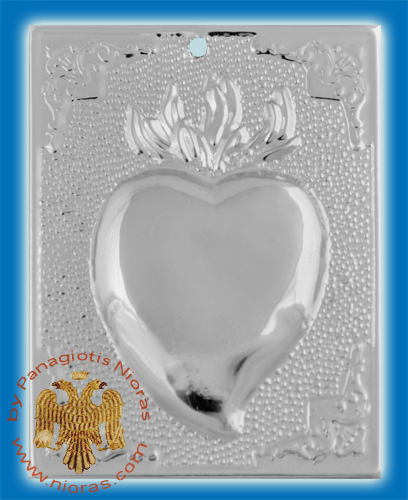 Orthodox Metal Tama Heart ExVoto Nickel Plated Milagros