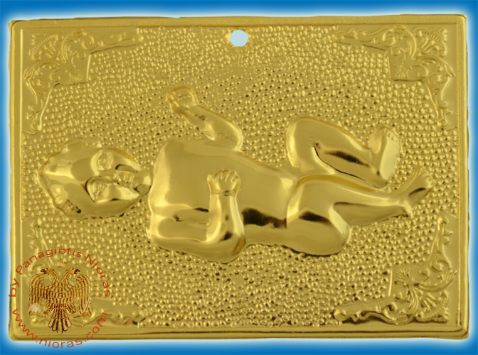 Orthodox Metal Tama Baby ExVoto Gold Plated Milagros