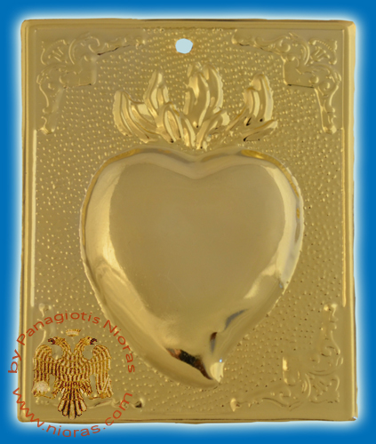 Orthodox Metal Tama Heart ExVoto Gold Plated Milagros