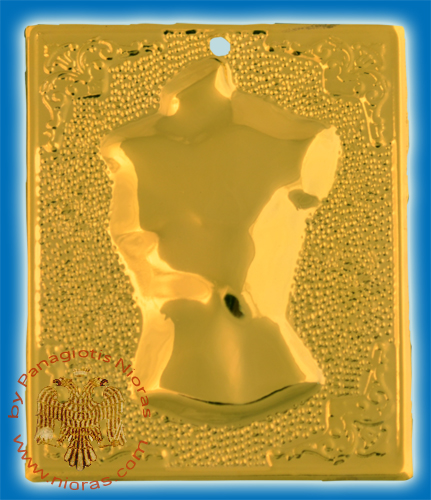 Orthodox Metal Tama Male Breast ExVoto Gold Plated Milagros