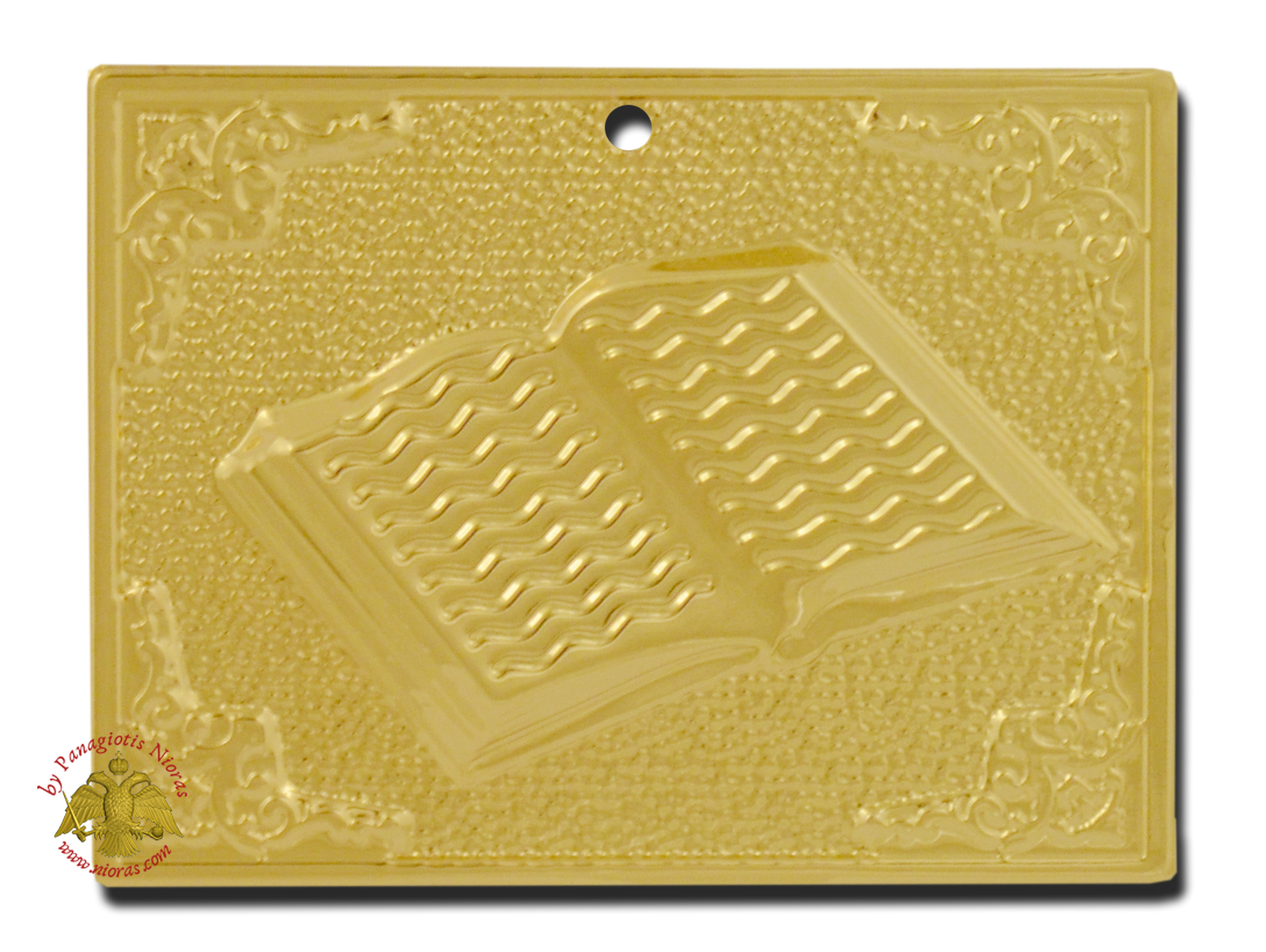 Orthodox Metal Tama Book ExVoto  Gold Plated Milagros