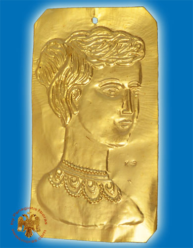 Tama Votive Gold Female Head