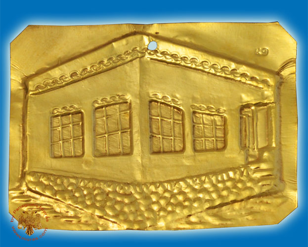 Tama Votive Gold House